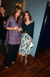 Left to right, KATE GOLDSMITH and SHEHERAZADE GOLDSMITH at a party to celebrate the publication of 'E is for Eating' by Tom Parker Bowles held at Kensington Place, 201 Kensington Church Street, London W8 on 3rd November 2004.<br /><br />NON EXCLUSIVE - WORLD RIGHTS