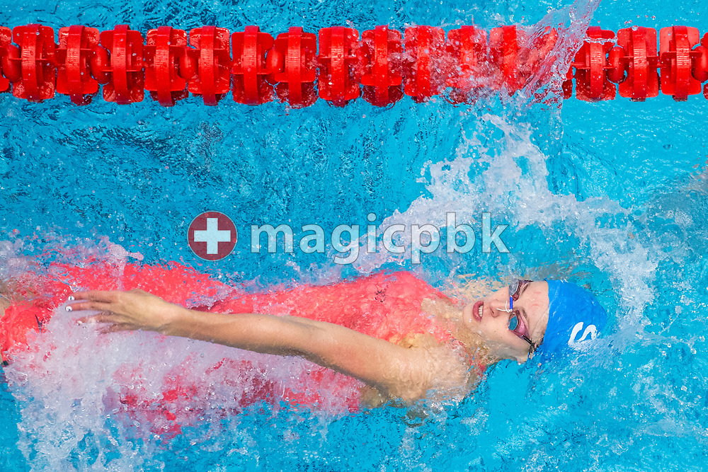 SVB's Vanessa REBMANN of SUI competes in the women's 50m Backstroke B-Final during the Swiss Swimming Championships at the Piscine des Vernets in Geneva, Switzerland, Friday, March 24, 2017. (Photo by Patrick B. Kraemer / MAGICPBK)