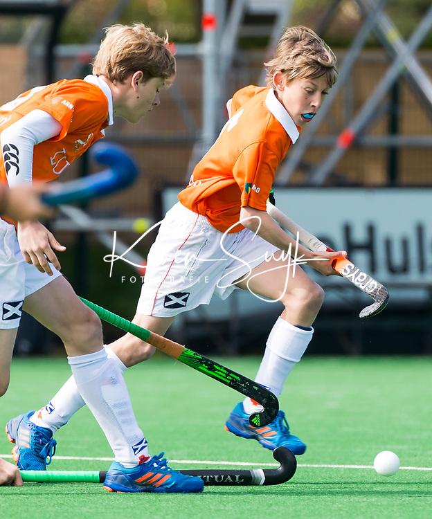 BLOEMENDAAL - Hockey-  Tobias Bovelander. competitiewedstrijd Bloemendaal JC1-Alliance JC1 . COPYRIGHT KOEN SUYK
