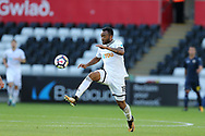 Jordan Ayew of Swansea city in action.Swansea city v Sampdoria , pre-season friendly at the Liberty Stadium in Swansea, South Wales on Saturday August 5th 2017.<br /> pic by Andrew Orchard, Andrew Orchard sports photography.