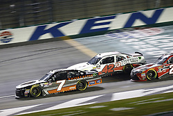 July 13, 2018 - Sparta, Kentucky, United States of America - Justin Allgaier (7) and John Hunter Nemechek (42) battle for position during the Alsco 300 at Kentucky Speedway in Sparta, Kentucky. (Credit Image: © Chris Owens Asp Inc/ASP via ZUMA Wire)