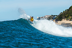 Jeep Leader Julian Wilson (AUS) advances to the Quarterfinals of the 2018 Corona Open J-Bay after winning Heat 2 of Round 4 at Supertubes, Jeffreys Bay, South Africa.