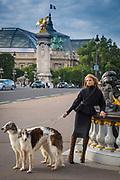 Parisian photo model during shoot