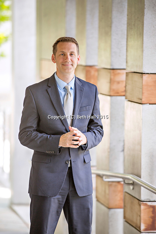 Editorial photography of Rod Bigelow, executive director of Crystal Bridges Museum on American Art stands in the museum in Bentonville, Ark.<br /> <br /> One time usage granted to Arkansas Business for an October 2016 publication.