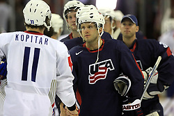 Anze Kopitar (11) of Slovenia at ice-hockey match USA vs Slovenia at Preliminary Round (group B) of IIHF WC 2008 in Halifax, on May 04, 2008 in Metro Center, Halifax, Nova Scotia, Canada. (Photo by Vid Ponikvar / Sportal Images)