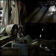 Dilapidated hair salon in abandoned mental hospital