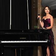 X-Factor, UK Star, Irina Dedyuk and presenter performs at the Grand Final MISS USSR UK 2019 at Hilton hotel London on 27 April 2019, London, UK.