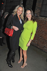 Left to riht, ADELA KING and MARIA HATZISTEFANIS at a party to celebrate the Kelly Hoppen and Smallbone kitchen range held at The Collection, 264 Brompton Road, London on 24th September 2012.