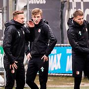 NLD/Rotterdam/20180301 - Training Feyenoord voor de bekerfinale,,Jens Toornstra, Dylan Vente en Bart Nieuwkoop
