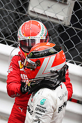May 26, 2019 - Monte Carlo, Monaco - xa9; Photo4 / LaPresse.26/05/2019 Monte Carlo, Monaco.Sport .Grand Prix Formula One Monaco 2019.In the pic: Lewis Hamilton (GBR) Mercedes AMG F1 W10 and Sebastian Vettel (GER) Scuderia Ferrari SF90 (Credit Image: © Photo4/Lapresse via ZUMA Press)