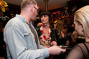 RICHARD MORTIMER; ERIN O'CONNOR, Ponystep - issue 3 launch party, George and Dragon, 2-4 Hackney Road, London, E2.  April 5 2012.