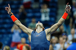 September 5, 2018 - Flushing Meadow, NY, U.S. - FLUSHING MEADOW, NY - SEPTEMBER 04: RAFAEL NADAL (ESP) day nine of the 2018 US Open on September 04, 2018, at Billie Jean King National Tennis Center in Flushing Meadow, NY. (Photo by Chaz Niell/Icon Sportswire) (Credit Image: © Chaz Niell/Icon SMI via ZUMA Press)