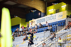 Spectators during football match between NK Radomlje and NK Maribor in 4th Round of Prva Liga Telemach 2021/22, on August 7, 2021 in Sportni park Domzale, Ljubljana, Slovenia. Photo by Nik Moder / Sportida