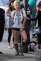 SARAH HARDING ON SET OF ST TRINIANS  ON SOUTH BANK MON 10 AUG PIC JACK LUDLAM 07887 590 968 MUST BYLINE PHONE BEFORE ANY USE