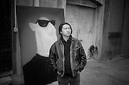 CHINA / Shanghai <br /> <br /> Zhou Tiehai in Moganshan Lu 2003<br /> <br /> ©Daniele Mattioli for Going Places Magazine