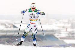February 9, 2019 - Lahtis, FINLAND - 190209  Johanna HagstrÅ¡m of Sweden competes in the women's sprint qualification during the FIS Cross-Country World Cup on February 9, 2019 in Lahti..Photo: Johanna Lundberg / BILDBYRN / 135946 (Credit Image: © Johanna Lundberg/Bildbyran via ZUMA Press)