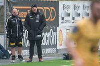 Fotball<br /> 9.04.2017<br /> OBOS ligaen<br /> Åsane - Bodø Glimt<br /> Åsanes trenerteam Tom Mangersnes (L) og Mons Ivar Mjelde (R)<br /> Foto: Astrid M. Nordhaug, Digitalsport