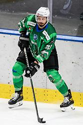 Gregor Koblar of HK SZ Olimpija during ice hockey match between HK SZ Olimpija Ljubljana and EC GRAND Immo VSV in bet-at-home ICE Hockey League, on October 22, 2021 in Hala Tivoli, Ljubljana, Slovenia. Photo by Morgen Kristan / Sportida