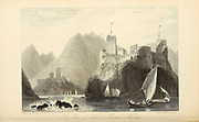 The Forts Of Jellali And Merani Mascat From the book ' The Oriental annual, or, Scenes in India ' by the Rev. Hobart Caunter Published by Edward Bull, London 1836 engravings from drawings by William Daniell