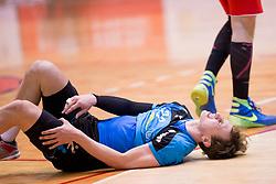 Frano Vujovic of RK Jeruzalem Ormoz during handball match between RD LL Grosist Slovan and RK Jeruzalem Ormoz in 1st round of Playoffs of 1st NLB Leasing League 2017/18, on March 9, 2018 in Sports hall Kodeljevo, Ljubljana, Slovenia. Photo by Urban Urbanc / Sportida