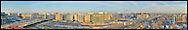 GigaPixel Panorama of NoMa neighborhood of Washington, DC.  Shows rear of Union Station.  Image Captured in 2011.<br /> Print Size (in inches): 15x2; 24x3; 36x5.5; 48x7.5; 60x9.5; 72x11; contact for larger, hyper-resolution size options.