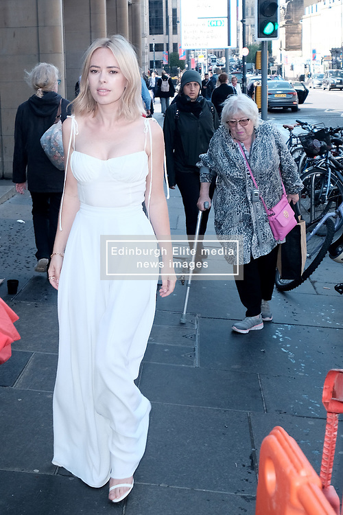 Edinburgh International Film Festival 2019<br /> <br /> Hurt By Paradise (World Premiere)<br /> <br /> Stars and guests arrive on the red carpet for the world premiere<br /> <br /> Pictured: Tanya Burr and Veronica Clifford (with walking stick and pink handbag)<br /> <br /> Alex Todd | Edinburgh Elite media