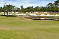 Scene of colorful golf course in Florida.