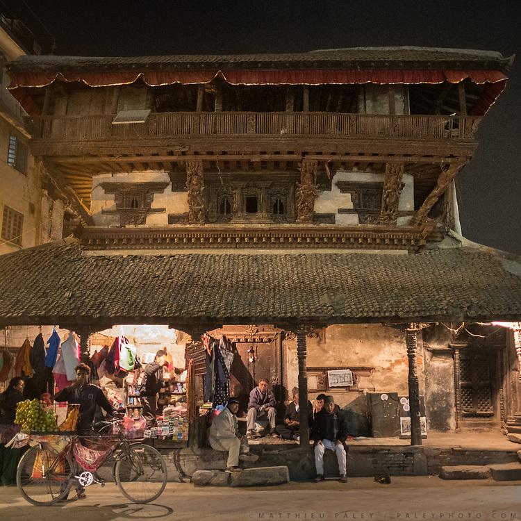 Walk around Durbar Square. Streets of Kathmandu.