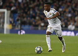 November 6, 2019, Madrid, Spain: Real Madrid CF's Rodrygo Goes in action during the UEFA Champions League match between  Real Madrid and Galatasaray SK at the Santiago Bernabeu in Madrid. (Credit Image: © Manu Reino/SOPA Images via ZUMA Wire)
