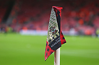 Football - 2019 / 2020 Premier League - Southampton vs. Everton<br /> <br /> Remembrance day commemorative corner flags at St Mary's Stadium Southampton<br /> <br /> COLORSPORT/SHAUN BOGGUST