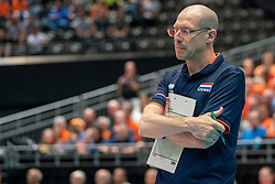 11-08-2019 NED: FIVB Tokyo Volleyball Qualification 2019 / Netherlands - USA, Rotterdam<br /> Final match pool B in hall Ahoy between Netherlands vs. United States (1-3) and Olympic ticket  for USA / Coach Roberto Piazza of Netherlands