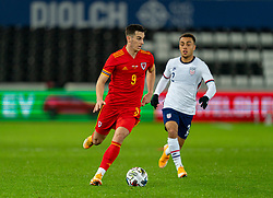 SWANSEA, WALES - Thursday, November 12, 2020: Wales' Tom Lawrence during an International Friendly match between Wales and the USA at the Liberty Stadium. (Pic by David Rawcliffe/Propaganda)