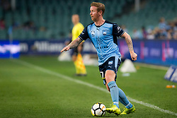 April 8, 2018 - Sydney, NSW, U.S. - SYDNEY, NSW - APRIL 8: Sydney FC midfielder David Carney (17) dribbles down the line at the A-League Soccer Match between Sydney FC and Adelaide United on April 8, 2018 at Allianz Stadium in Sydney, Australia. (Photo by Speed Media/Icon Sportswire) (Credit Image: © Speed Media/Icon SMI via ZUMA Press)