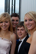 Students from Whitley Bay High School , aged mainly  17-18, Newcastle, celebrate their leaving prom, following graduation from A levels. In recent years American style prom nights to celebrate graduation from high School have been gaining popularity in the UK. These pictures are part of a set  <br /> commissioned for the Times magazine that  look at this teenage rite of passage across three schools in the UK.
