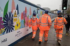 2020-01-22 HS2 preparatory works at Euston