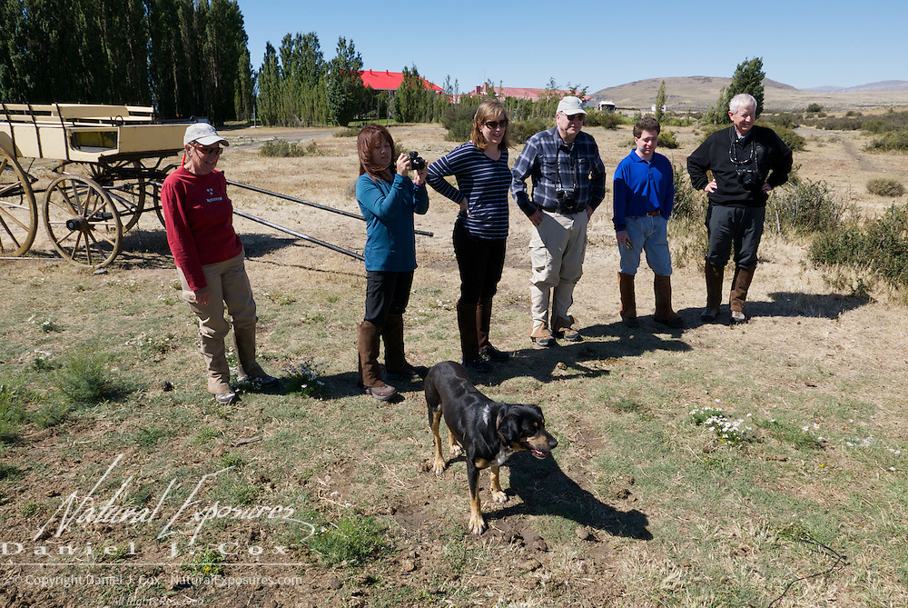 Explorers at the ranch in El Calafate, Argentina, Patagonia