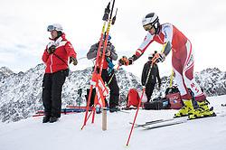 14.10.2021, Rettenbachferner, Sölden, AUT, OeSV Ski Alpin, RTL Training am Rettenbachferner, im Bild Stefan Brennsteiner (AUT) // Stefan Brennsteiner of Austria during a training session in preparation for the upcoming FIS Alpine Skiing World Cup season at the Rettenbachferner in Sölden, Austria on 2021/10/14. EXPA Pictures © 2021, PhotoCredit: EXPA/ Johann Groder