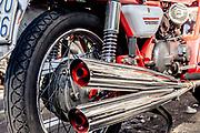 Madello del Lario, Lecco: old Moto Guzzi motorbiked.
