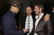 Gerry de Vaux, Patrick Cox and Louis de Rohan. The Tatler Little Black book party in association with Chopard. Aviva loungs, BAGLIONE HOTEL. HYDE PARK GATE. LONDON SW7. 9 November 2005. ONE TIME USE ONLY - DO NOT ARCHIVE © Copyright Photograph by Dafydd Jones 66 Stockwell Park Rd. London SW9 0DA Tel 020 7733 0108 www.dafjones.com
