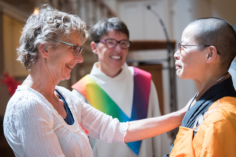 23 July 2018, Amsterdam, the Netherlands: On 23 July, an international Interfaith Memorial and Prayer Service takes place in the Keizersgrachtkerk in Amsterdam, the Netherlands. Gathering local congregants together with international guests, the service takes place in connection with the 2018 International AIDS Conference, held in Amsterdam on 23-27 July.