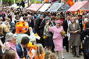 Koninginnedag 2008 / Queensday 2008. <br /> <br /> Koningin Beatrix viert Koninginnedag dit jaar in Friesland. De vorstin en haar familie bezochten op 30 april Makkum en Franeker.<br /> <br /> Queen Beatrix celebrates Queensday this year in Friesland (the Nothren provice in Holland). The Queen and its family visited Makkum and Franeker on 30 April.<br /> <br /> Op de foto/ On the Photo: Queen Beatrix