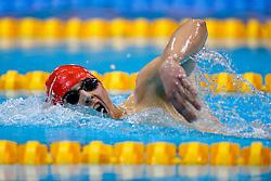 Stephen Milne of Perth City Swim CLub wins the Mens 1500m Freestyle Final - Photo mandatory by-line: Rogan Thomson/JMP - 07966 386802 - 16/04/2015 - SPORT - SWIMMING - The London Aquatics Centre, England - Day 3 - British Swimming Championships 2015.