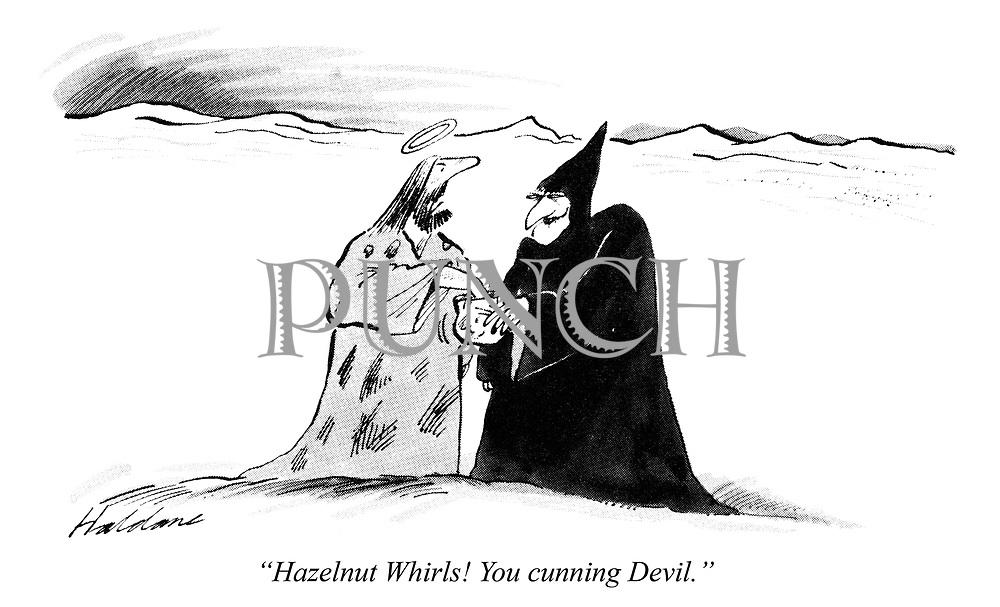 """Hazelnut Whirls! You cunning Devil."""