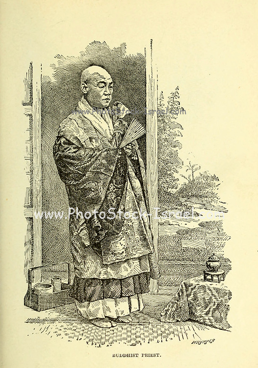 Buddhist Priest from the book ' Rambles in Japan : the land of the rising sun ' by Tristram, H. B. (Henry Baker), 1822-1906. Publication date 1895. Publisher New York : Revell
