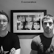 The producers of the short film We Will Make You Whole Again, Justin Gardner at left and Trevor Hawkins at right.