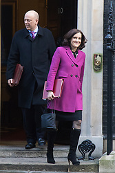 Downing Street, London, February 2nd 2016. Leader of the Commons Chris Grayling follows Northern Ireland Secretary Theresa Villiers out of No 10 after attending the weekly Cabinet meeting. ///FOR LICENCING CONTACT: paul@pauldaveycreative.co.uk TEL:+44 (0) 7966 016 296 or +44 (0) 20 8969 6875. ©2015 Paul R Davey. All rights reserved.