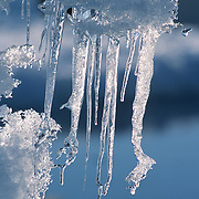 Ice formations on the pack ice surrounding Baffin Island. Nunavut, Canada