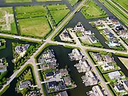 Nederland,Zuid-Holland, Rotterdam; 14–05-2020; stadsdeel Prins Alexander, Vinex-wijk Nesselande. Waterwijk met zelfbouwkavels waarop naar eigen ontwerp en welstandsvrij een woning kan worden gebouwd. Andries Fyandijk met nog lege kavels.<br /> Prince Alexander district, Nesselande neighborhood. Waterwijk with self-build plots .<br /> <br /> luchtfoto (toeslag op standaard tarieven);<br /> aerial photo (additional fee required)<br /> copyright © 2020 foto/photo Siebe Swart