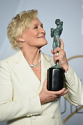 Glenn Close poses in the press room during the 25th Annual Screen Actors Guild Awards at The Shrine Auditorium on January 27, 2019 in Los Angeles, CA, USA. ©Lionel Hahn/ABACAPRESS.COM