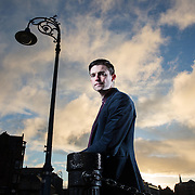 Fraser Doherty, now 24, set up SuperJam at 14, using his Gran's jam recipes.  Photographed near his office in Leith , Edinburgh. Picture Robert Perry 12th Feb 2016<br /> <br /> Must credit photo to Robert Perry<br /> FEE PAYABLE FOR REPRO USE<br /> FEE PAYABLE FOR ALL INTERNET USE<br /> www.robertperry.co.uk<br /> NB -This image is not to be distributed without the prior consent of the copyright holder.<br /> in using this image you agree to abide by terms and conditions as stated in this caption.<br /> All monies payable to Robert Perry<br /> <br /> (PLEASE DO NOT REMOVE THIS CAPTION)<br /> This image is intended for Editorial use (e.g. news). Any commercial or promotional use requires additional clearance. <br /> Copyright 2014 All rights protected.<br /> first use only<br /> contact details<br /> Robert Perry     <br /> 07702 631 477<br /> robertperryphotos@gmail.com<br /> no internet usage without prior consent.         <br /> Robert Perry reserves the right to pursue unauthorised use of this image . If you violate my intellectual property you may be liable for  damages, loss of income, and profits you derive from the use of this image.